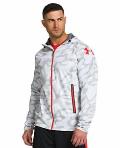 $119 UNDER ARMOUR MENS WHITE CAMO COMBINE STORM HOODIE HOODED JACKET XXL 2XL NWT