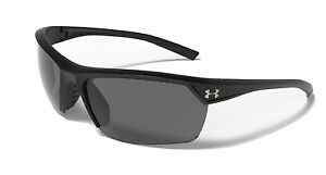 UNDER ARMOUR ZONE 2.0 Sunglasses SATIN BLACK Frame GRAY Lens New 2016