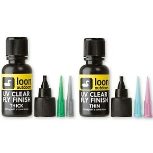 LOON UV CLEAR FLY FINISH Thick or Thin Best Fly Tying UV Resin 1 2 oz NEW