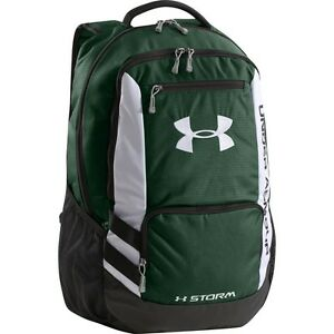 Under Armour UA Storm Hustle Backpack Forest Green Black White NWT