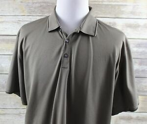 NEW Nike Golf Tech Fit Dry Sport Polo Shirt MENS XL Tipped Trim green polyester