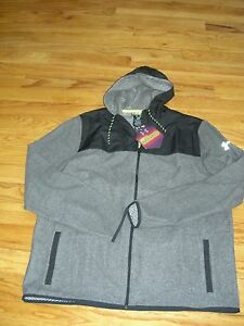 **BUY*LAST ONE*BNWT*UNDER ARMOUR*MENs*COLD GEAR INFRARED*STEALTH GRAY*HOODIE*3XL
