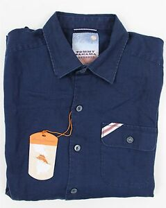 NWT Tommy Bahama MLB Sea Glass Linen Shirt MENS MEDIUM Blue NY Yankees Baseball