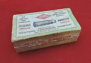 Western Cartridge Co. 2 Piece Picture Box .38-.40 Winchester