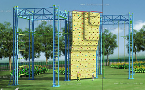 Trampoline Park We Finance Amusement Center Rock Climbing Ninja Warrior Course