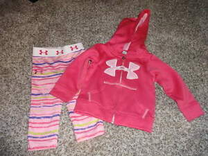UNDER ARMOUR 3-6-9 12M PINK HOODIE LEGGING SET