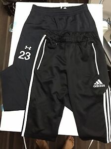Lot of 2 adidas Condivo 12 34 Pants Shorts AND Under Armour Soccer Pants YL