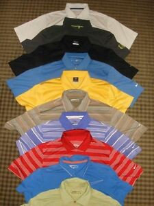 LOT 10 MIXED NIKE TOUR PERFORMANCE DRI-FIT FIT-DRY SS GOLF POLO SHIRTS SZ S