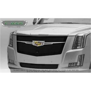 T-Rex Black Upper Class Main Grille w Chrome Trim for Cadillac Escalade 15