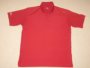 Mens Under Armour Big Creek Golf & Country Club SS Polo Shirt L Large Burgundy