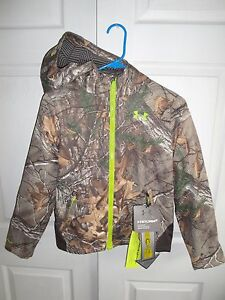 NEW Youth Under Armour Scent Control Barrier Jacket Hoodie Camo Medium $120!