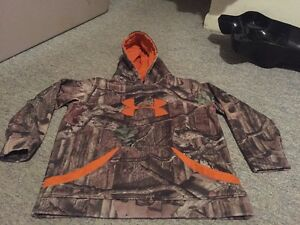 Boys Xl Youth Yxl Camo Under Armour Hoodie Hooded Camouflage Sweatshirt Awesome