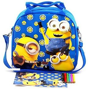 Licensed Despicable Me Minions Insulated Kids Lunch box Bag Food container Pail