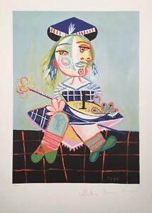 after Pablo Picasso lithograph hand signed by Marina Picasso