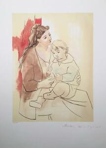 (after) Pablo Picasso lithograph hand signed by Marina Picasso