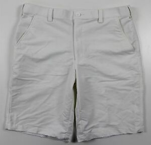 NEW Under Armour Bent Grass 2.0 Loose Golf Shorts MENS 34 White Nylon
