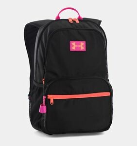 Under Armour NWT Girl's Great Escape Backpack Black Pink