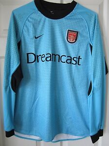 Nike 20002001 Arsenal Goalkeeper GK Soccer Jersey Football Shirt Dreamcast L