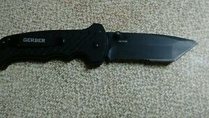 Tactical Gerber Folding Knife-Tanto-Assisted Opening-1911212A