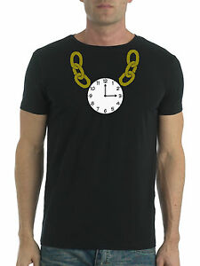 NEW KIDS MENS WOMENS RETRO HIP HOP CLOCK FANCY DRESS OLD SKL T SHIRT AGE 1 - 6XL