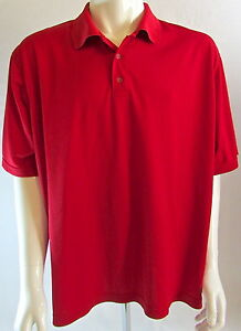 Men's Champion Red Golf Polo Shirt XXL Duo Dry Dri Fit