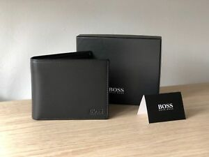 Hugo BOSS Men's Black Leather Wallet 'Asolo' Bi-fold Style 50250331