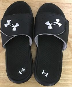 Under Armour Sandals Size 2Y Black Gray $21.99