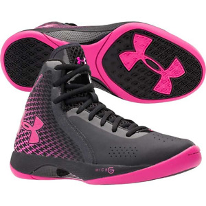 Under Armour Womens sz 6.5 Micro G Torch Basketball Shoes 1256436-002 Black NEW