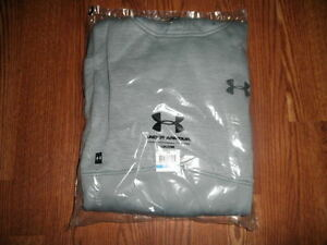 NEW NWT MENS UNDER ARMOUR STORM ICON TWIST HOODIE GRAY STEEL XL $60