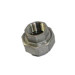 304 Stainless Steel Cast Pipe Fitting Union Sizes 1/4