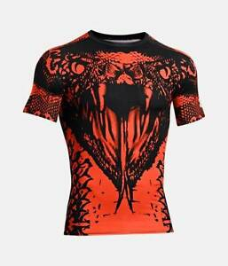 NEW Men's Under Armour Red Black Snake Alter Ego Beast Compression Shirt LG XL
