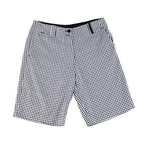 Nike NEW Black Womens Size 4 Fit-Dry Houndstooth Print Golf Shorts $85 898