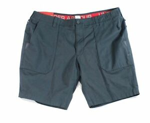 Under Armour NEW Gray Mens Size 30 Stretch Zip-Fly Utility Shorts $79 380