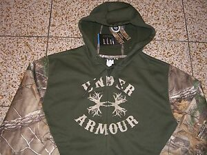 **BUY**NWT**Under Armour**Mens**REAL TREE XTRA GREEN**Camo Zip Front Hoodie*XXL