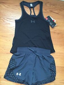 Under Armour Kids Girls Youth Small Shorts & Racerback Tank NWT Free Shipping
