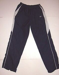Under Armour TRACK Pants Athletic Fitness Mesh-Lined Women's Small S Navy Blue