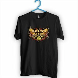 Golds Gym SPORT FITNESS VEST MUSCLE BODYBUILDING T-shirt Tee B & W