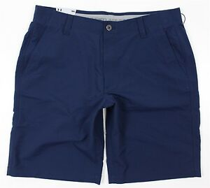 NWT Under Armour UA Match Play Golf Shorts MENS 36 Navy Blue HeatGear Loose