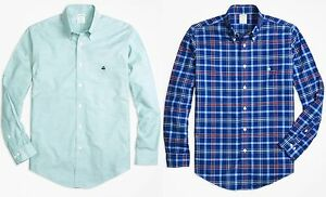 2 Brooks Brothers Non-Iron Sports Shirts Milano Fit Large - NWT FREE SHIP!