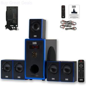 Home Theater Surround Sound Audio Speaker System 700W Powered Sub TV Pc MP3