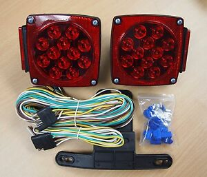 12V LED Trailer Light Kit Multi Function Tail Lights Submersible DOT