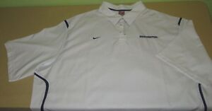 WASHINGTON HUSKIES COACHES POLO Shirt Size 3XL - NIKE FIT DRY - White W Purple