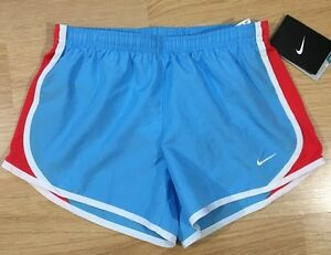 Nike Dri Fit Running Shorts Girls Size Medium Blue And Red NWT