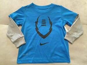 Nike Dry Fit Long Sleeve Athletic T-Shirt Sz 2T Blue