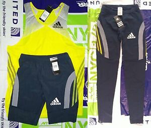 adidas elite racing kit singlet + short tights track and field Size M