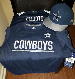 Nike Cowboys Elliott Field Jersey w Snapback Hat (kids) and Dry Fit T-shirt (S)