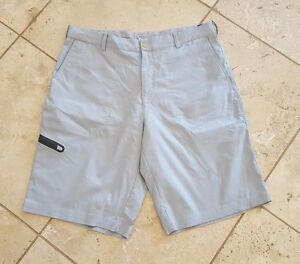 Men's Nike Golf Dri Fit Tiger Woods Collection Light Blue Cargo Shorts Size 33