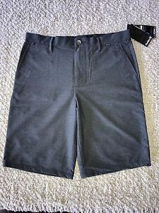 HURLEY DRY OUT NIKE DRI - FIT REGULAR FIT SHORTS SIZE 31 GRAY BRAND NEW