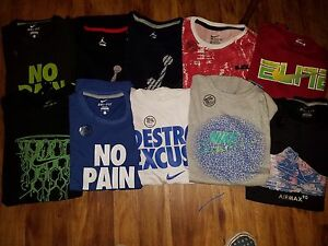 Boy's Nike T-Shirts Kyrie Kobe Lebron Jordan Dri-Fit Sz XL Lot of 10 New wtags