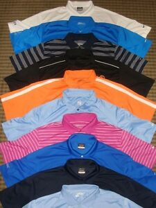 LOT 10 MIXED NIKE TOUR PERFORMANCE DRI-FIT FIT-DRY SS GOLF POLO SHIRTS SZ 2XL